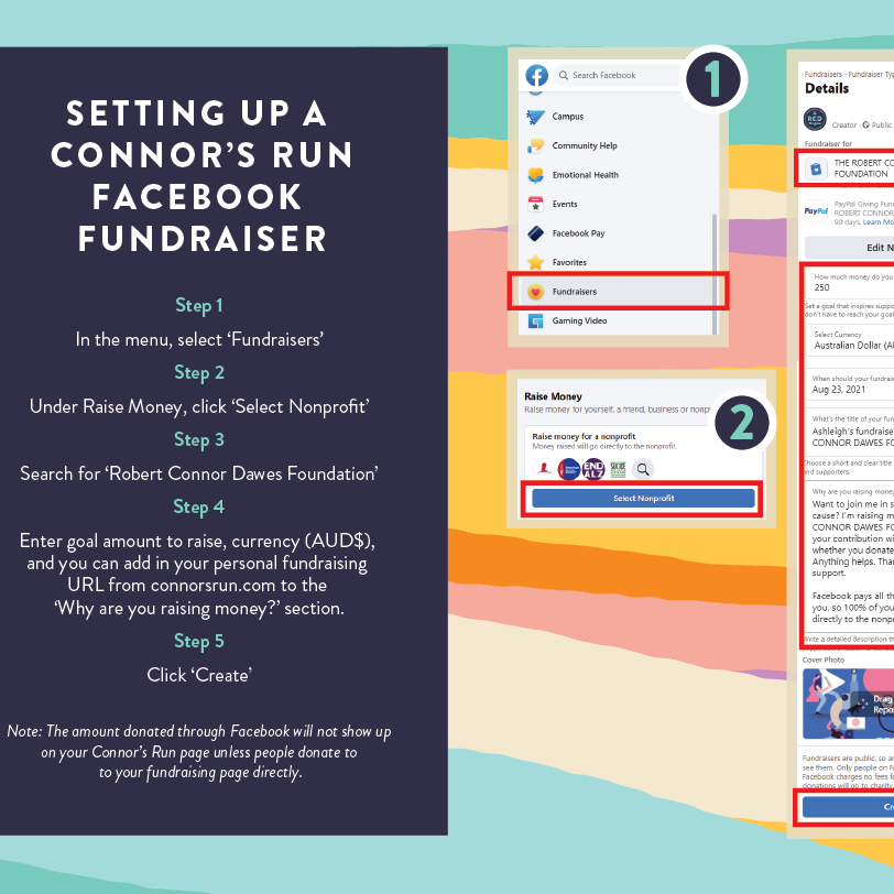 Setting up a Facebook Fundraiser